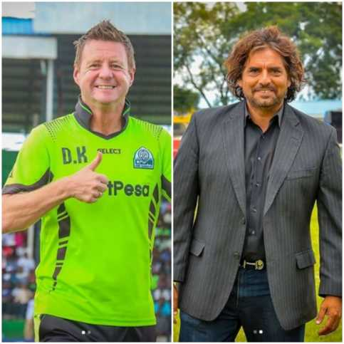 K'Ogalo British coach, Dylan Kerr and Leopard's Argentine coach Rodolfo Zapata. Photo / COURTESY