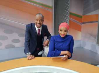 Rashid and wife 339x250 - Lulu Hassan reveals she and hubby Rashid fall out at times, talks about working with him