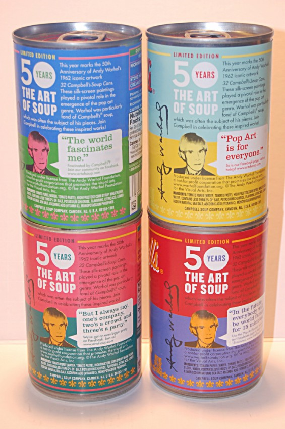 Andy Warhol's iconic Campbell's Soup Cans