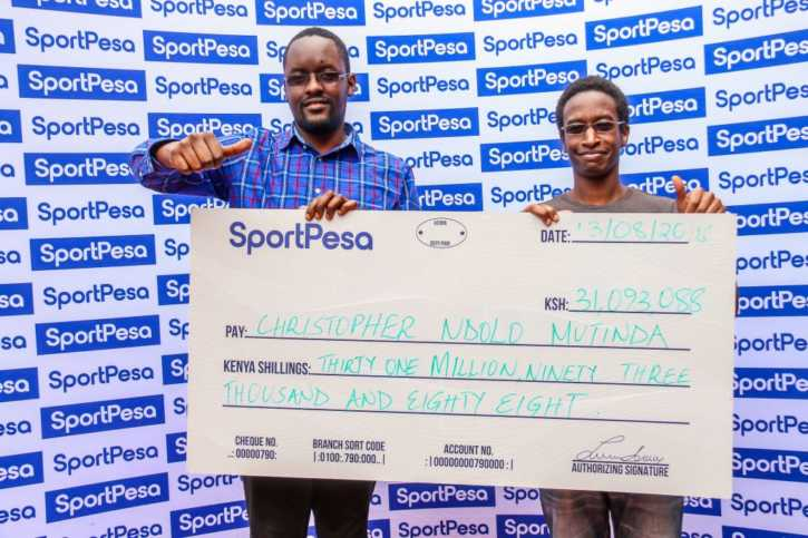 SportPesa sh31 Million Bonus Winner Mutinda