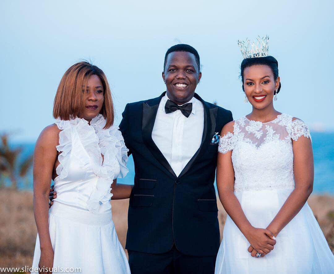 AY on his wedding day