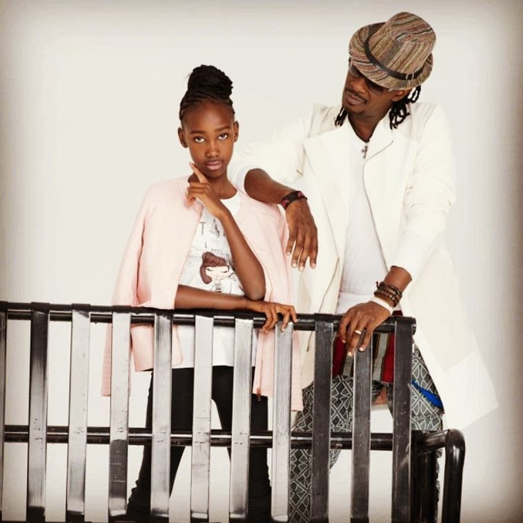 Nameless with his daughter