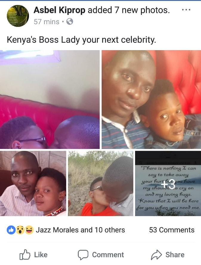 Alleged posts by Asbel concerning the lady