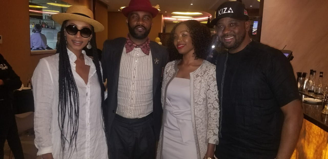 Fally Ipupa and Keri Hilson with Kiza's founder Ali and his wife