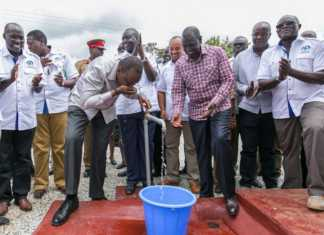 Water In Kenya Uhuru and Ruto