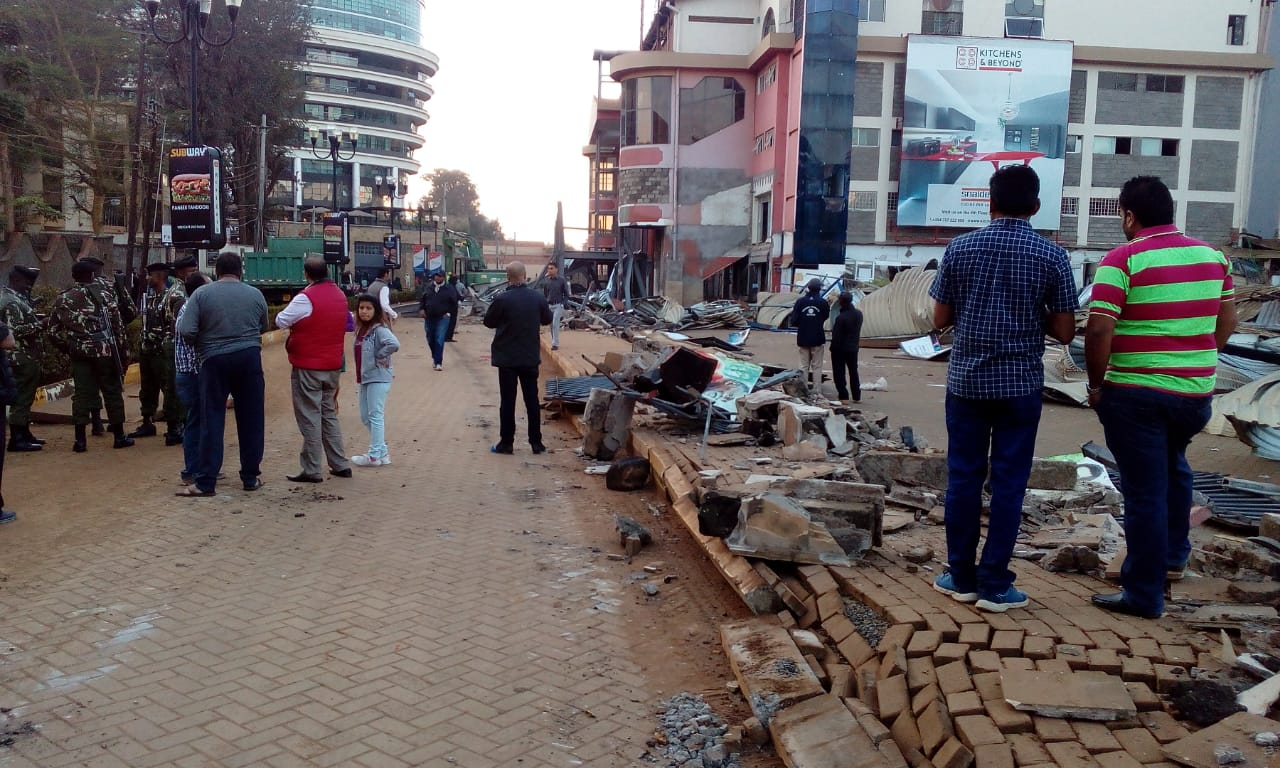 Nakumatt Ukay destroyed