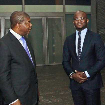 Godiamo with president of the Republic of Angola