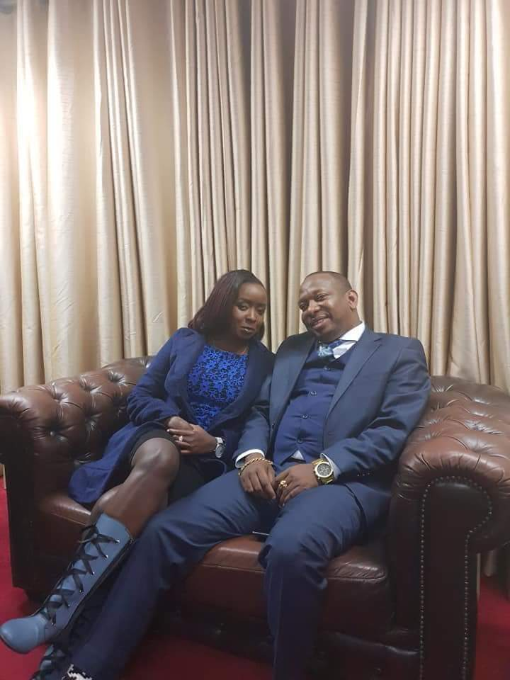 Mike Sonko and Jacque Maribe