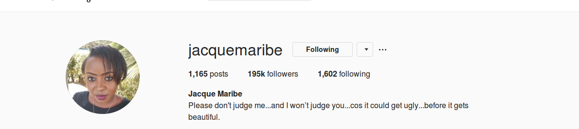 Screenshot from 2018 09 29 101147 - Kunaendaje? Jacque Maribe deletes photo of engagement to Jowie  from her Instagram