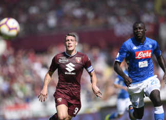 EXCLUSIVE TORINO FC Torino vs Napoli - Italian Football Championship League A TIM 2018/2019 - Olimpico Grande Torino stadium. In the pic:Andrea Belotti (Torino Fc). Photo / TORINO FC