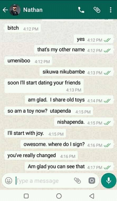 women 15 - Funny WhatsApp conversation between desperate Kenyan man and angry ex