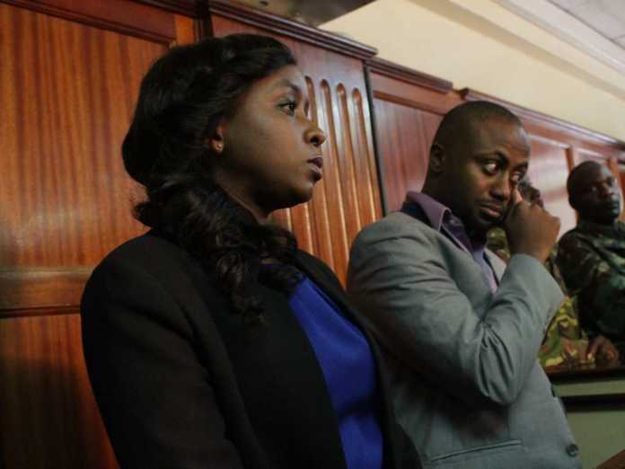 Jacque Maribe and Jowie at Milimani court