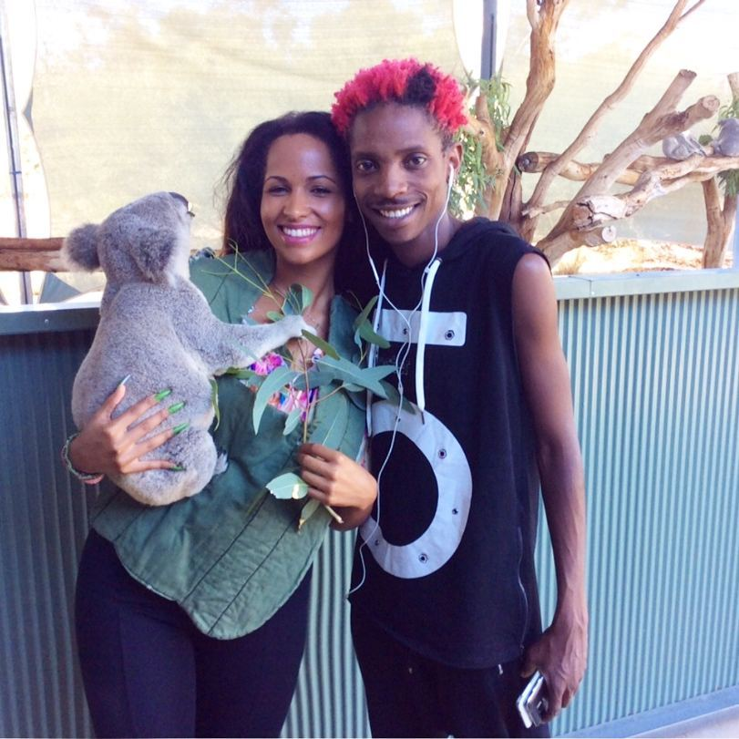 Eric Omondi with with his girlfriend