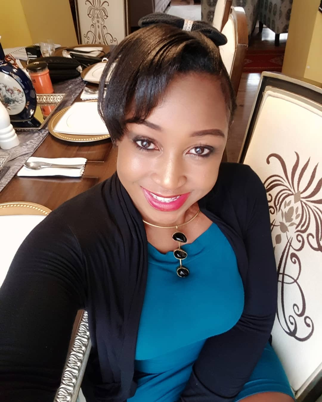 Betty Kyallo with her mother