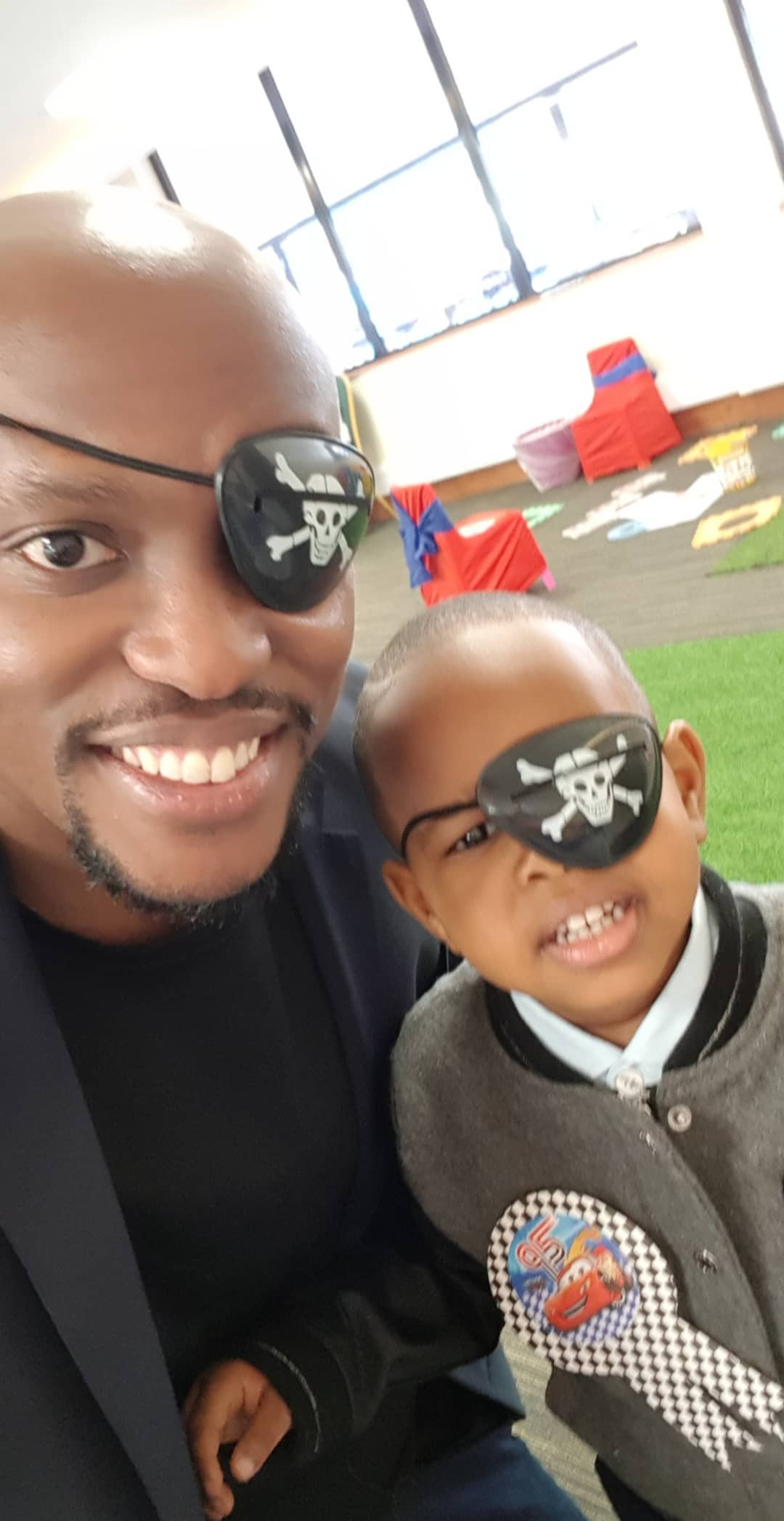 Janet Mbugua's son and his father