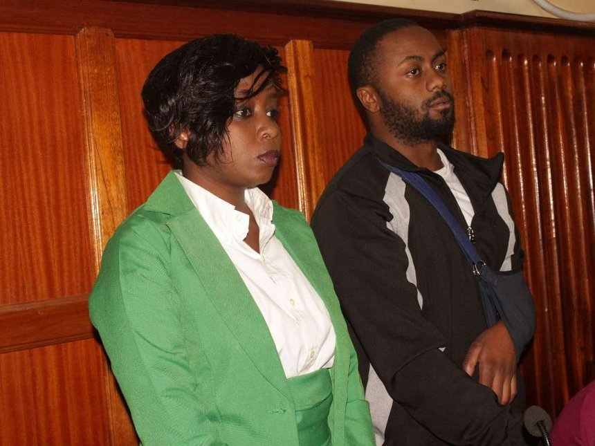 Dqv6JW8WwAA6Iuz - From crying, slaying to ignoring each other: All the photos you did not see from Jacque Maribe and Jowie's court hearings