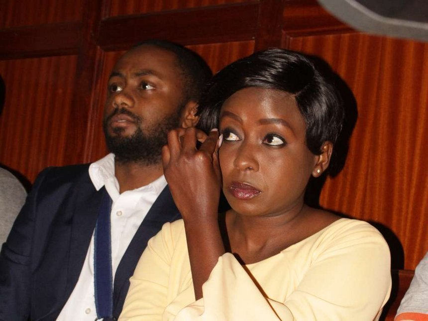 Dqv6LLcX0AAvkg5 - From crying, slaying to ignoring each other: All the photos you did not see from Jacque Maribe and Jowie's court hearings