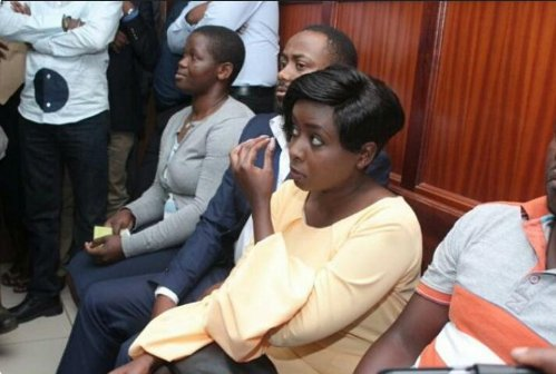 Dqv6M0RWsAElXyZ - From crying, slaying to ignoring each other: All the photos you did not see from Jacque Maribe and Jowie's court hearings