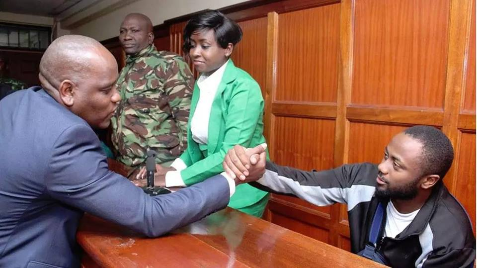 Dennis Itumbi greets Jowie