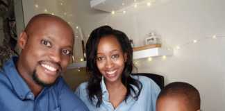 Janet Mbugua with her family