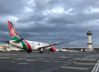 KQ Maiden Flight