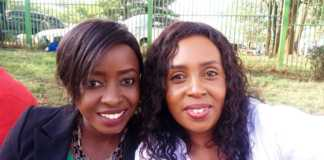 Monica Kiragu with Jacque Maribe