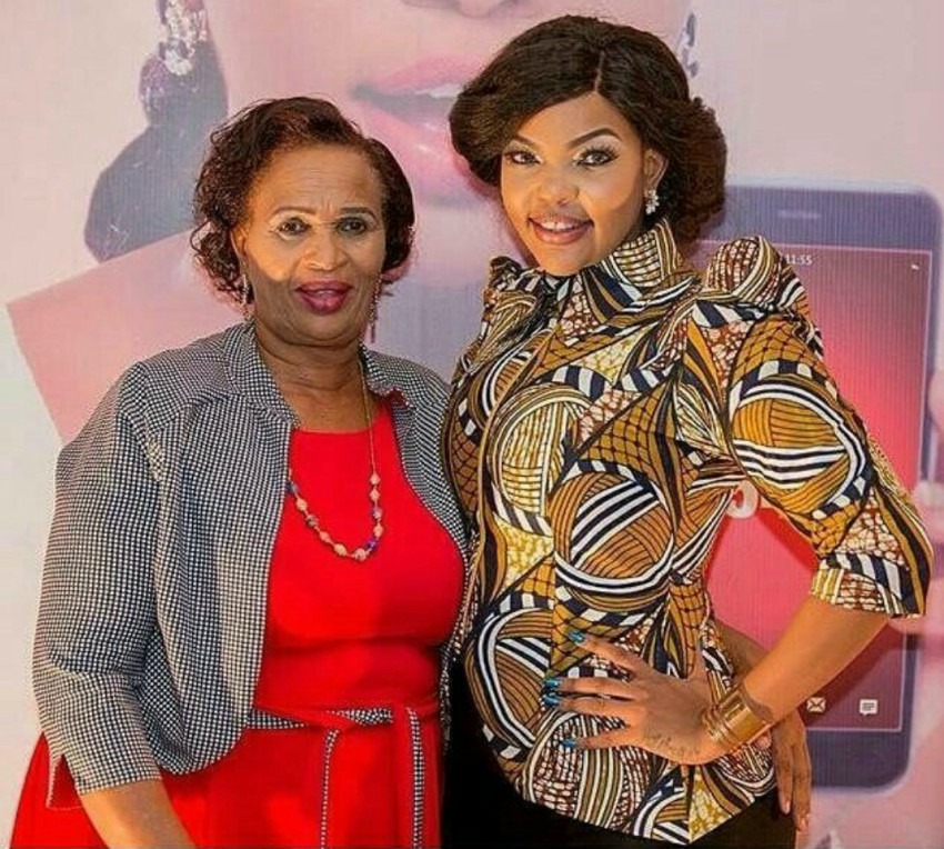 Wema and her mother