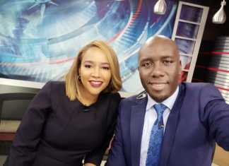 Dennis Okari and Olive Burrows