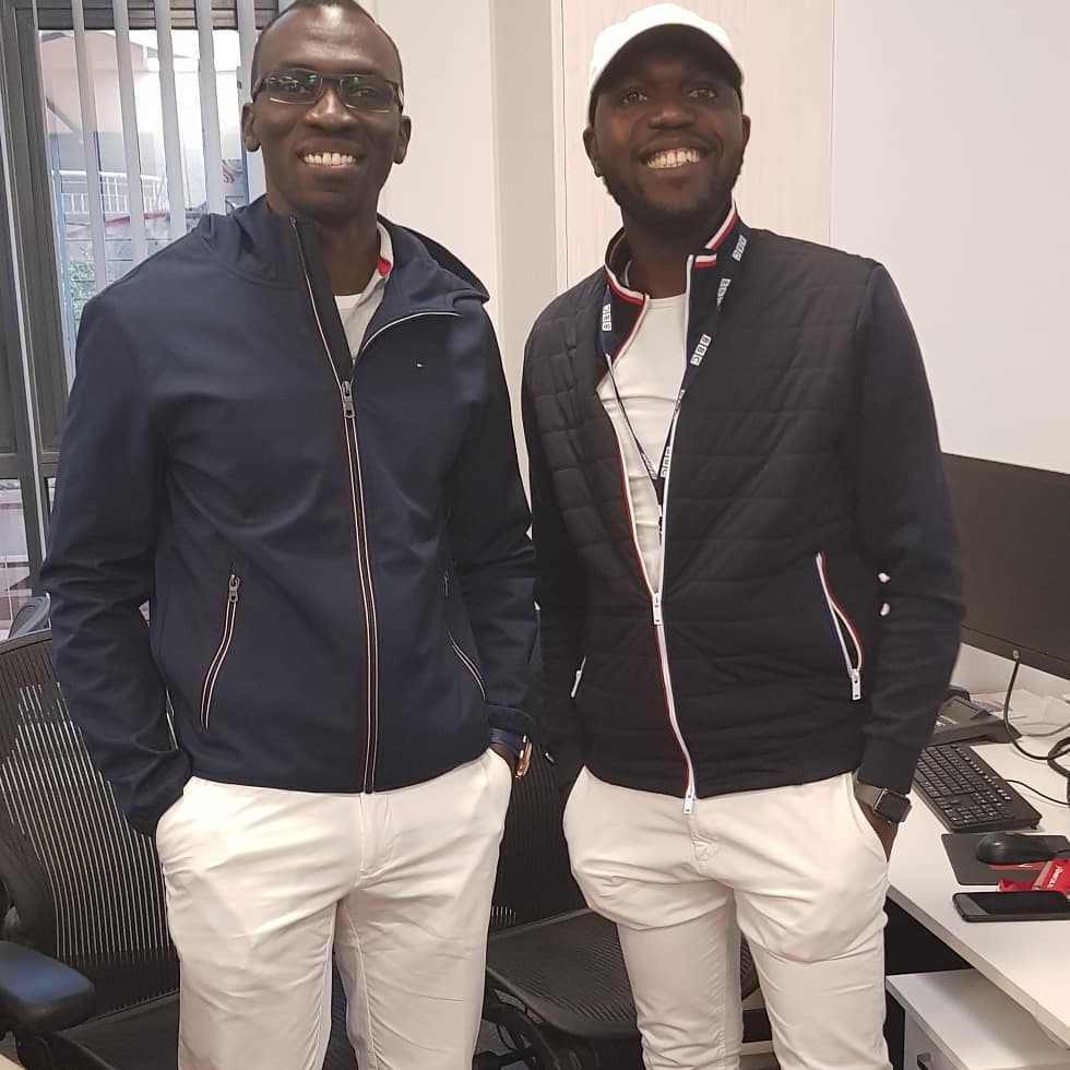 Trevor Ombija and Larry Madowo