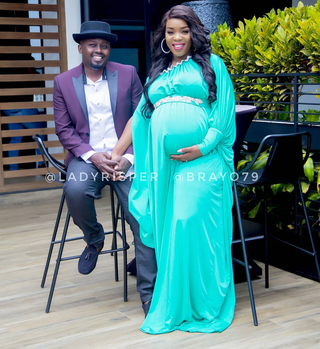 Risper Faith with her husband