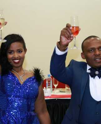 Ben Kitili with his wife