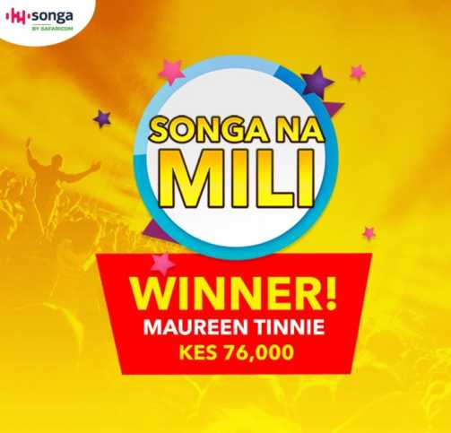 Songa Na Mili First Winner