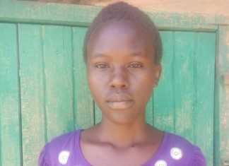 Mercy Lochii of Turkana Girls who emerged the best Student in KCSE examination in the county. /HESBORN ETYANG