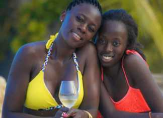 Akothee with her daughter Vesha