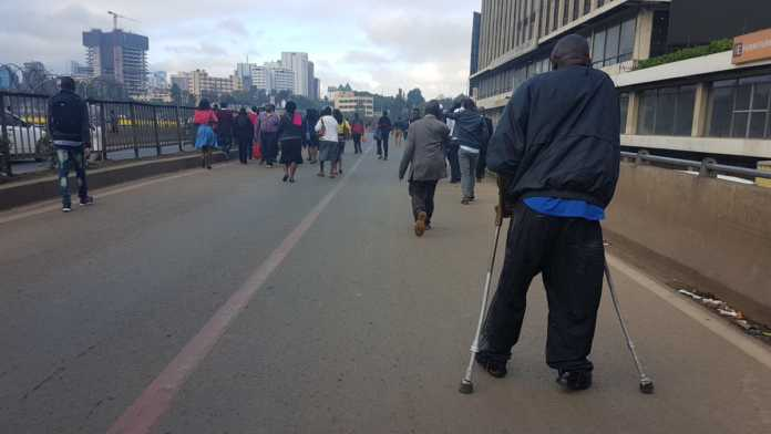 Kenyans walking