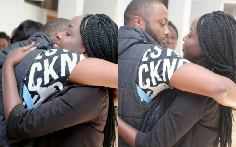 Jowie and Maribe hug