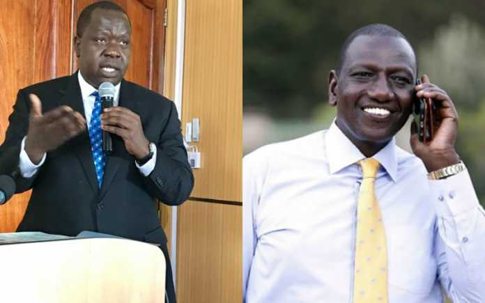 Image result for ruto vs matiangi
