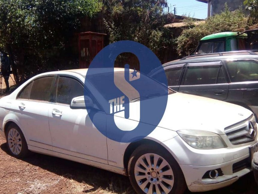 The vehicle at the police station on Wednesday 30, 2019. /THE STAR