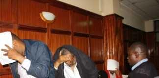 Dusit terror attack suspects in a Milimani court yesterday