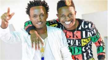 Mr Seed with Bahati 350x194 - 'I love him so much!' Mr Seed's message to Bahati after 'fight'