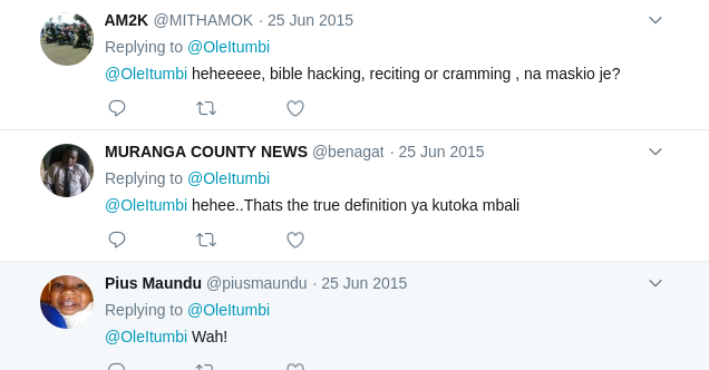 Comments on Itumbi TBT