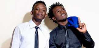 David Wonder and Bahati posing together