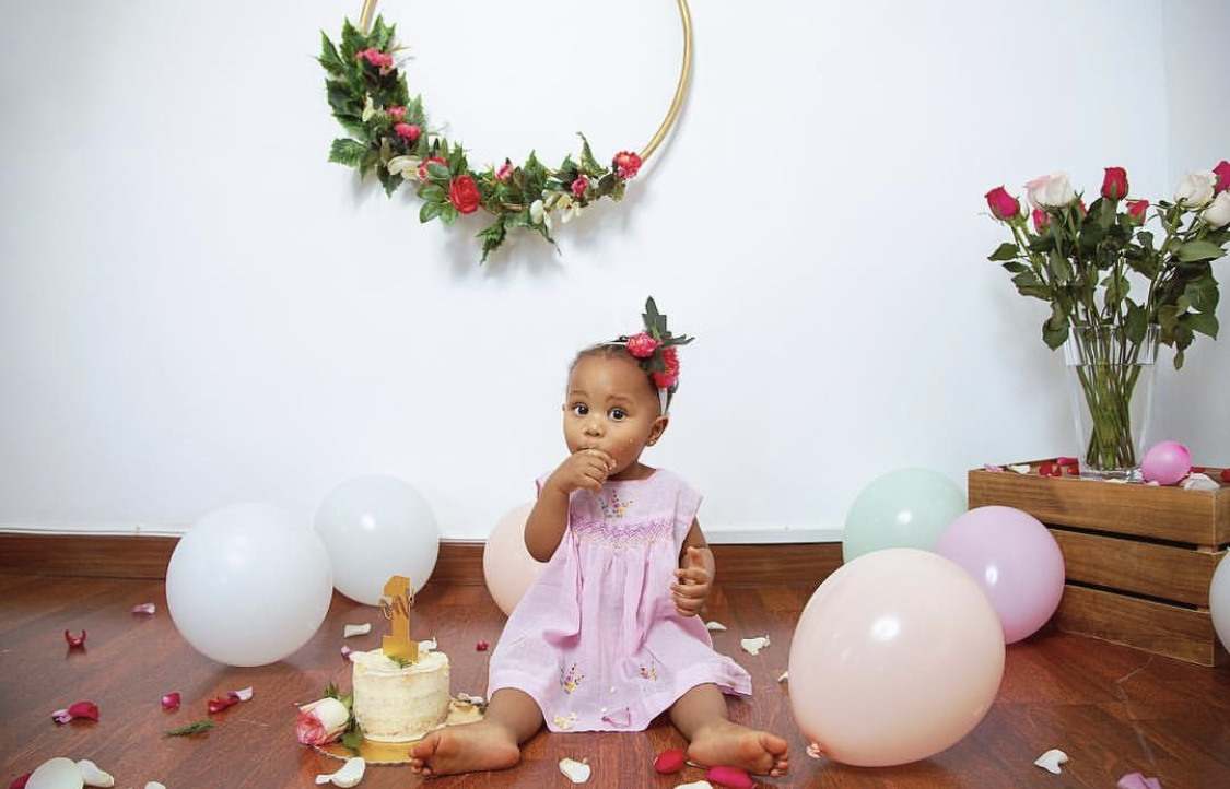 1E2E6128 B97F 4FA3 9BC3 54551DEEB7A9 - Awww! Nick Mutuma and Bridget Shighadi celebrate daughter's first birthday (photos)