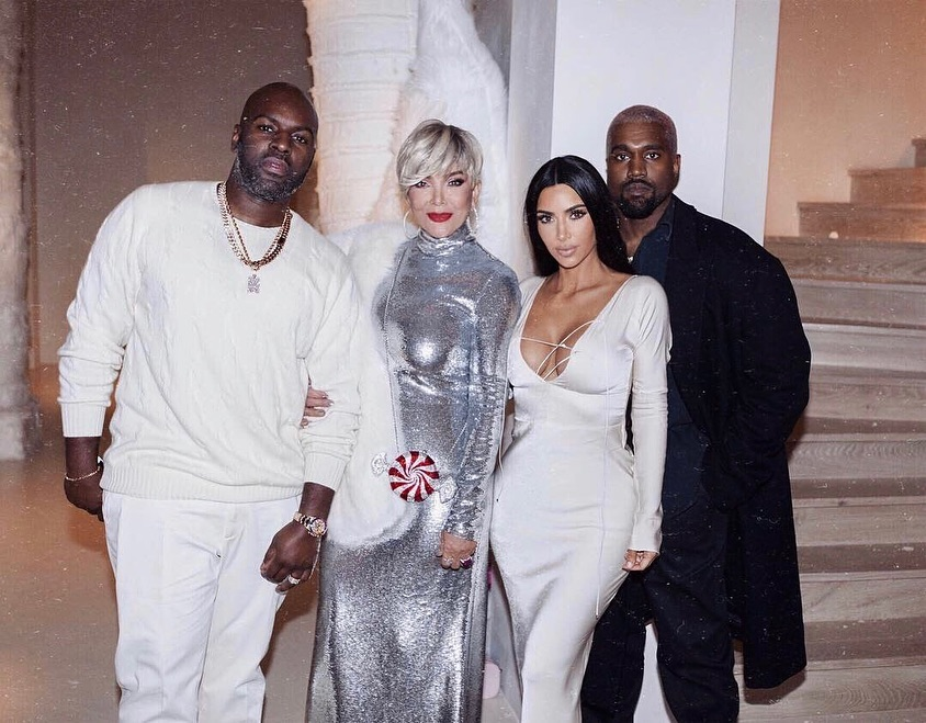 From left: Corey Gamble, Kris Jenner's Kim and Kanye,
