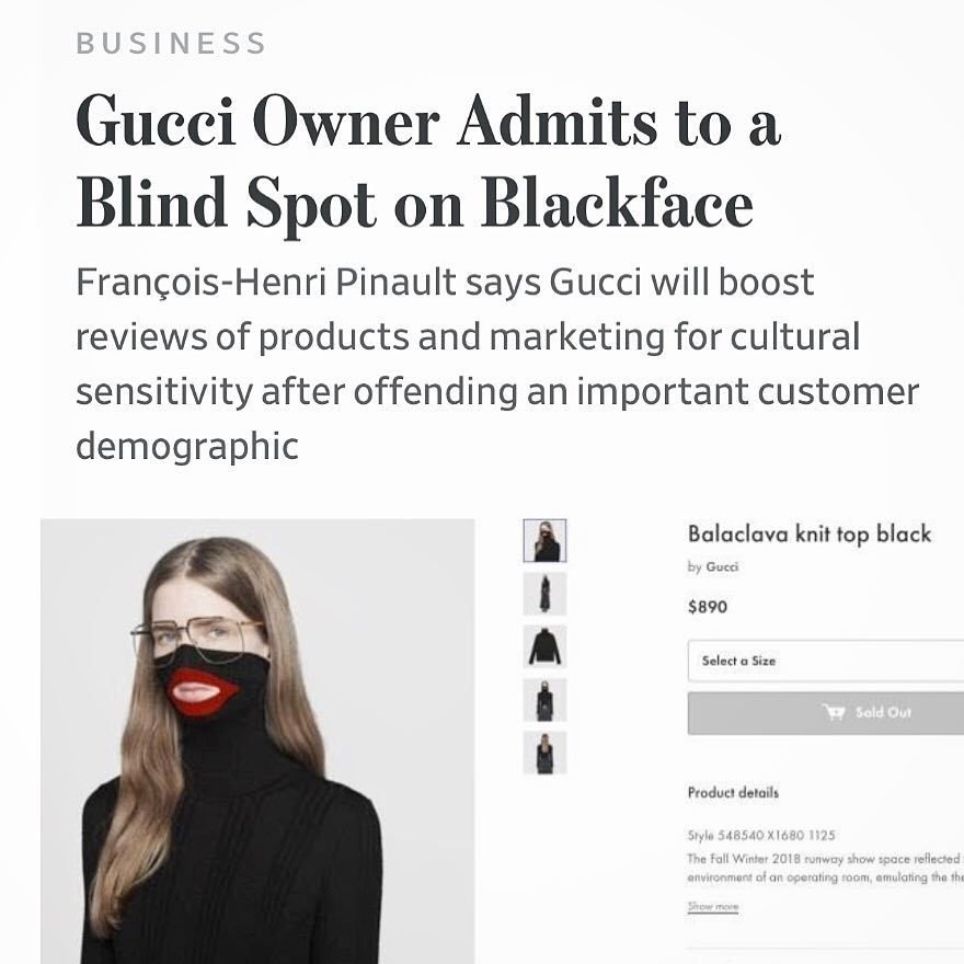 Gucci's blunder