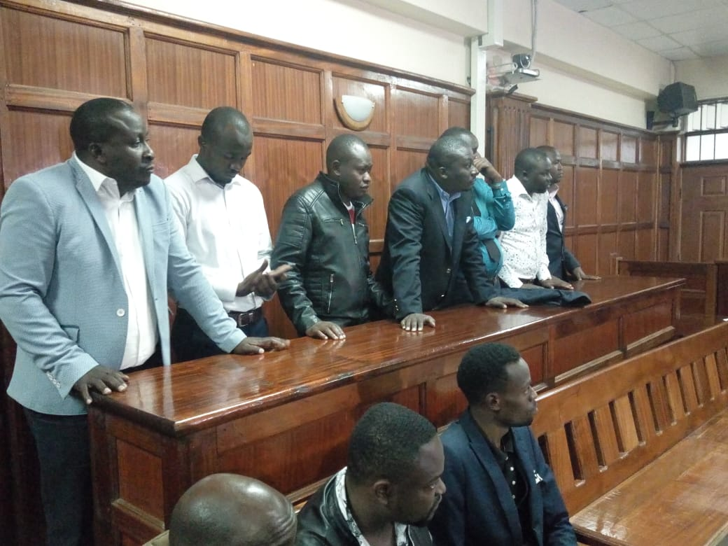 The 7 suspects in court