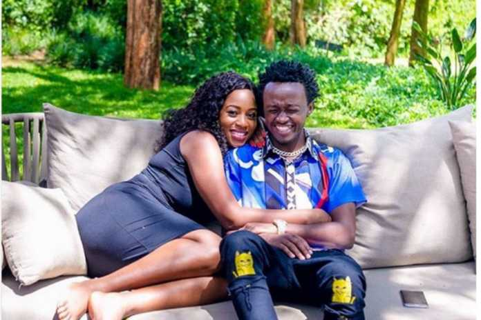 Bahati and Diana 696x464 - 'I am the one chosen for Bahati by God,' Diana Marua defends marriage again