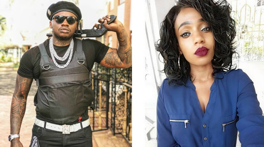 Cashy vs Khaligraph - Gun play! Nameless shows off a gun looking mean and dangerous (PHOTO)