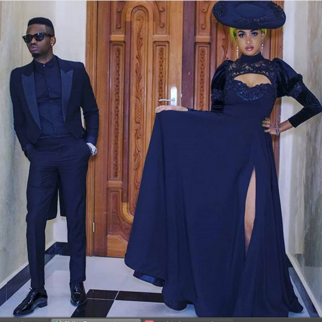 Diamond Tansha black outfits - Will Tanasha be able to keep Diamond Platnumz from cheating? (opinion)