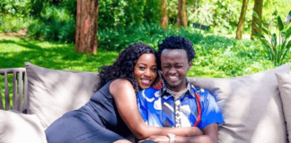 Diana Marua and her husband in a past photo
